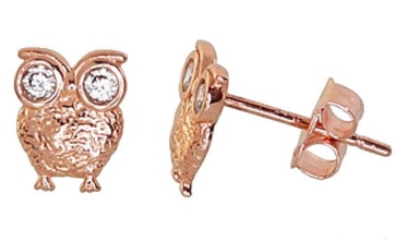 Diamond Sky Gold Earrings Golden Owl VII