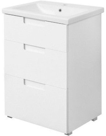 Sanservis Trio-60 Cabinet with Basin Como-60 White 60x80x43cm
