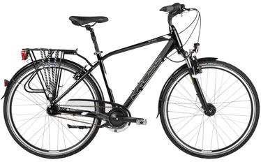 """Dviratis Kross Trans Sander XL 28"""" Black White Glossy 17"""