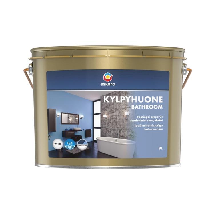 Emulsiniai dažai Eskaro Kylpyhoune Bath, BW, balti, 9 l