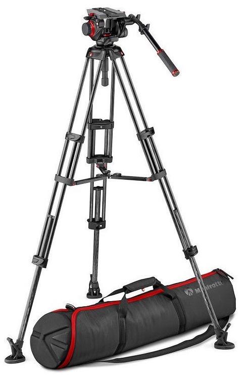 Manfrotto 504 Video Head Twin Leg Tripod MS 100/75mm
