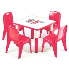 Vaikiškas staliukas Simba raudonas, 60 x 60 x 46 cm