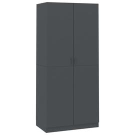 Гардероб VLX Chipboard, серый, 90 см x 52 см x 200 см