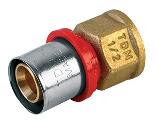 Presuojamas adapteris TDM Brass, 20 mm x 1/2 IN, su vidiniu sriegiu