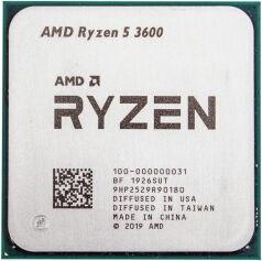Procesors AMD Ryzen 5 3600 3.6GHz 32MB TRAY 100-000000031, 3.6GHz, AM4, 32MB