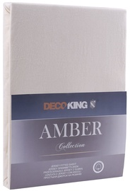 Palags DecoKing Amber Cream, 220x200 cm, ar gumiju