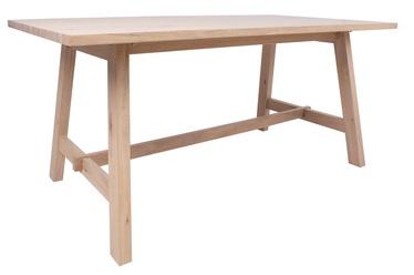 Обеденный стол Home4you Bergen 18142, дубовый, 1800x950x750мм