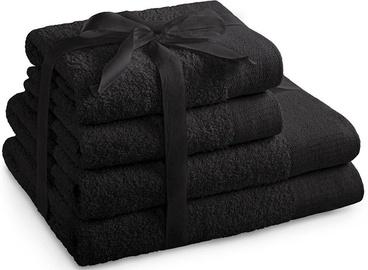 AmeliaHome Amari Towel Set Black 4pcs
