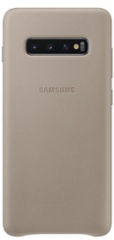 Samsung Leather Cover For Samsung Galaxy S10 Plus Gray