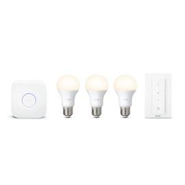 Išmani LED lempa Philips Hue A60, 9.5W, E27, 2700K, 806lm, DIM, 3vnt.