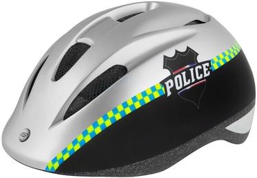 Шлем Force Fun Police 2019, белый/черный, M, 520 - 560 мм