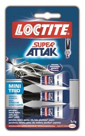 Universalūs klijai Loctite Super Attak, 3 x 1 g