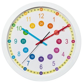 Hama Easy Learning Children's Wall Clock 30cm White