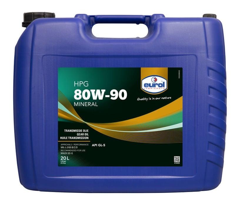 Масло для трансмиссии Eurol HPG GL5 80W - 90, минеральное, для легкового автомобиля, 20 л