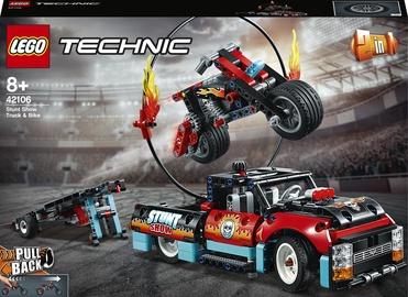Конструктор LEGO Technic Шоу трюков на грузовиках и мотоциклах 42106, 610 шт.