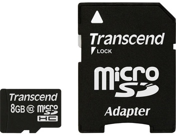 Transcend 8GB Micro SDHC Class 10 + Adapter