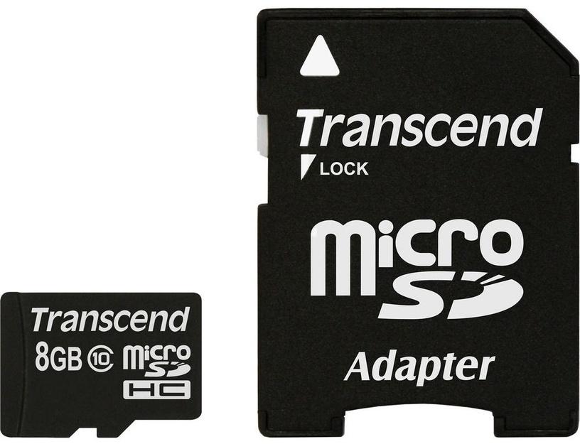 Transcend 8GB Micro SDHC Class 10 + Adapter