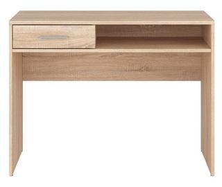 Black Red White Desk Nepo BIU1S Sonoma Oak