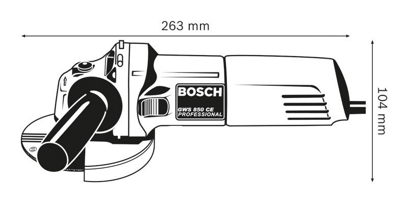 Leņķa slīpmašīna Bosch GWS850 CE, 850W, 125mm