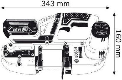 Bosch GCB 18V-LI Solo L-Boxx 18V Cordless Band Saw without Battery