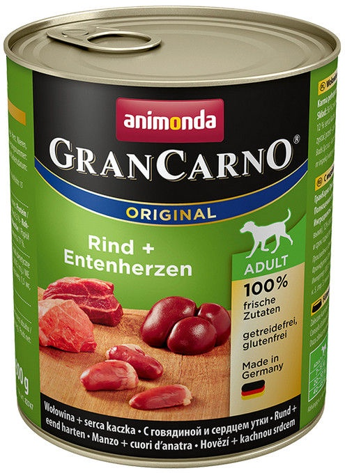 Animonda GranCarno Beef/Duck Hearts 800g