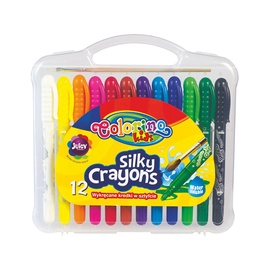Šilkinės kreidelės Colorino 57271PTR 3 in 1, 12 spalvų