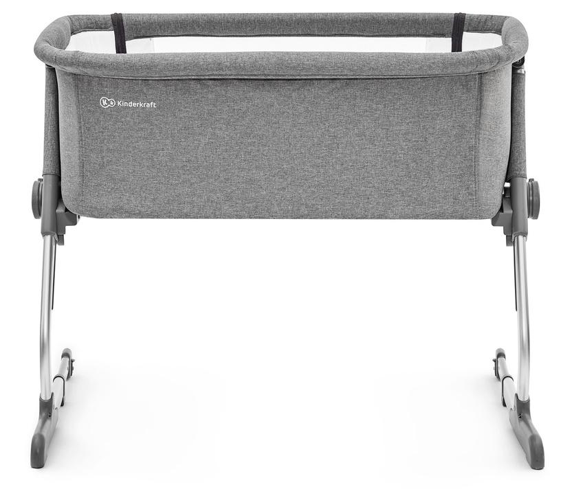 Детская кровать KinderKraft Uno 2-In-1 Grey, 93x68 см