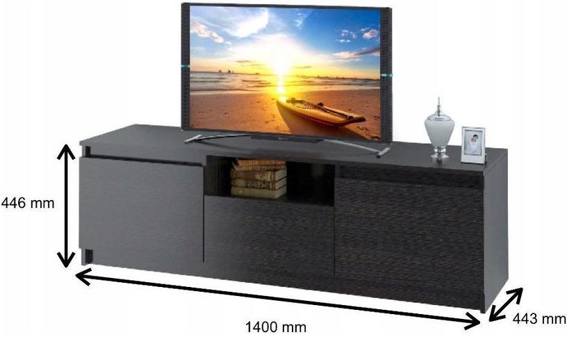 TV staliukas Tuckano Mars, rudas, 1400x440x440 mm