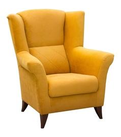 Fotelis Idzczak Meble Kent Yellow, 94x75x105 cm