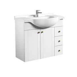 Pakabinama vonios spintelė su praustuvu RB Bathroom Eternal, balta