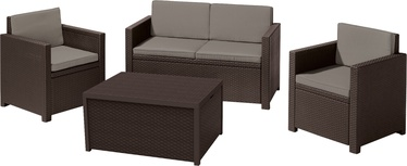 Комплект уличной мебели Keter Monaco Brown, 4 места
