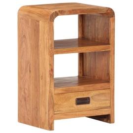 Ночной столик VLX Solid Acacia Wood, коричневый, 40x30x60 см