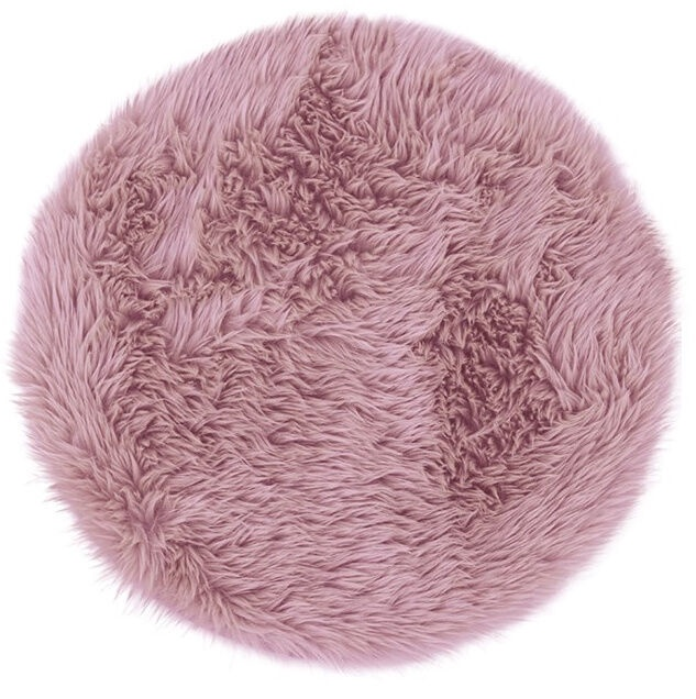 Ковер AmeliaHome Dokka, фиолетовый, 90 см x 90 см