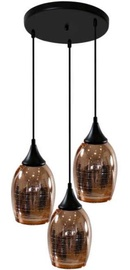 Candellux Marina Ceiling Lamp 3x60W E27 Black/Copper