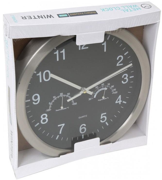 Platinet Winter Wall Clock 42575 Black