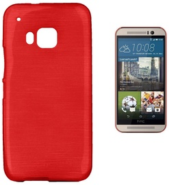 Forcell Jelly Brush Back Case For HTC One M9 Red