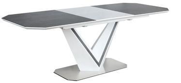 Signal Meble Valerio Ceramic White Table 160-220cm Grey