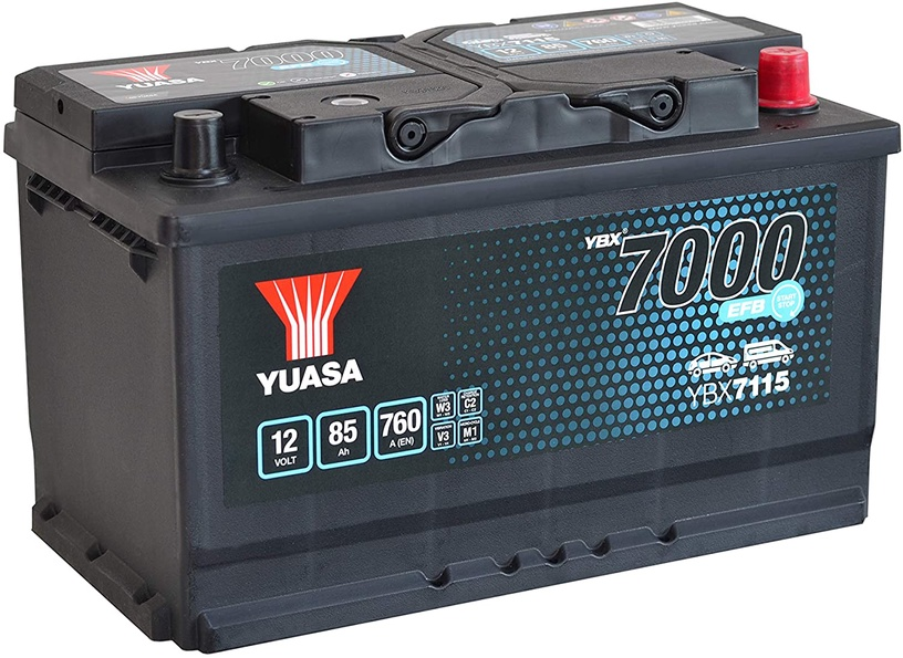 Аккумулятор Yuasa YBX7115, 12 В, 85 Ач, 760 а