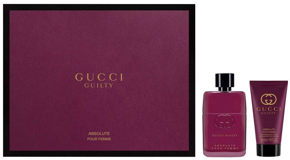 0e9a397614 Gucci Guilty Absolute Pour Femme 50ml EDP + 50ml Body Lotion ...