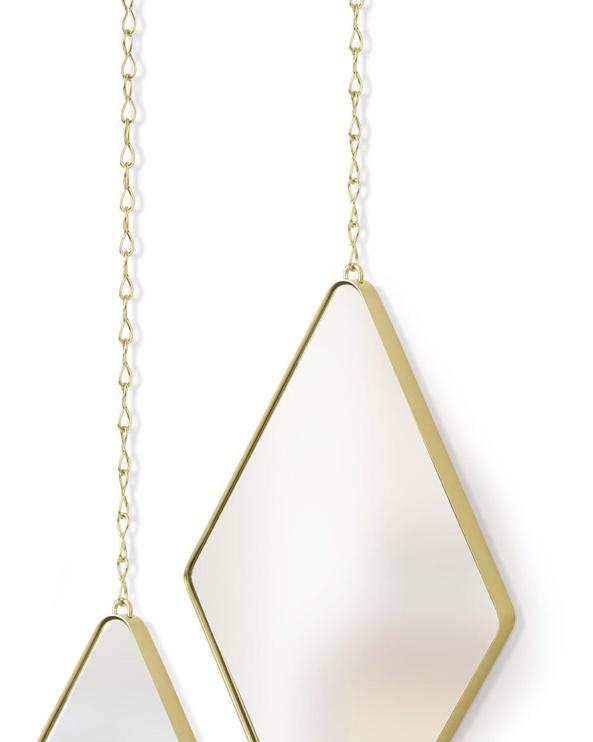 Peegel Umbra Dima Brass, riputatav, 17x29 cm