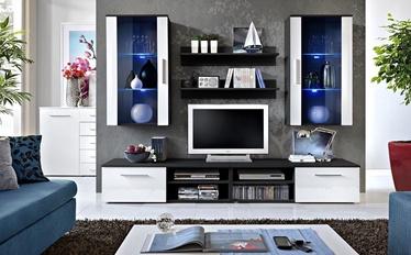 ASM Galino G Wall Unit White Gloss/Black