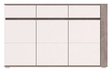 Komoda WIPMEB Ares AS6 Oak/White High Gloss, 150x40x85 cm