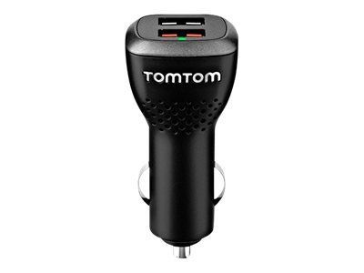 TomTom High-Speed Dual Charger Car Power Adapter Black