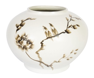 Home4you Yoko Ceramic Vase Birds H15cm White