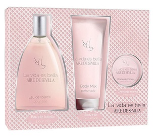 Instituto Español Aire De Sevilla Bella 150ml EDT + 150ml Body Milk + 50ml Hand Cream