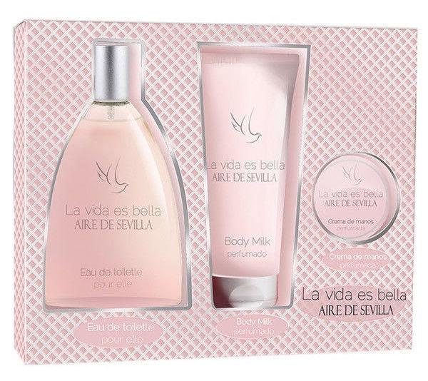 Instituto Español Aire De Sevilla Bella 150ml EDT + 150ml Body Milk + 50ml Hand Cream