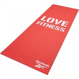 Fitnesa un jogas paklājs Reebok, balta/sarkana, 173 cm x 61 cm x 4 mm