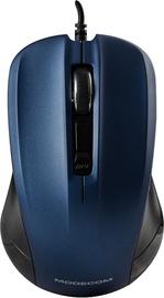 Kompiuterio pelė Modecom M9.1 Black/Blue, laidinė, optinė