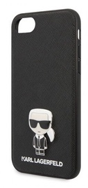 Karl Lagerfeld Saffiano Iconic Back Case For Apple iPhone 7/8/SE 2020 Black