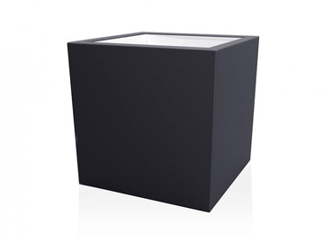 Plastikinis vazonas Schio Cubo 032, 30 x 30 cm.